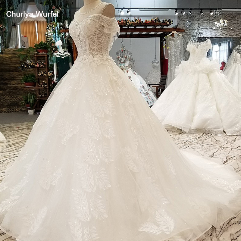 LS07332 special sexy sleeves wedding gown o neck tulle open keyhole back bride wedding dresses 2019