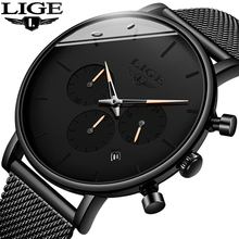 2019 New LIGE Mens Fashion Watches Top Brand Luxury Chronograph Waterproof Date Wrist Watch Casual Quartz Clock reloj hombre+Box