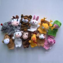 Hot  Baby Toys & Hobbie 12pcs/set models stuffed animal 12 zodiac animals finger Baby Stuffed Toys