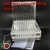 New Capsule Filling Machine 100 Cavity Manual Capsule Filler With Tamping Tool Can Be Customized For