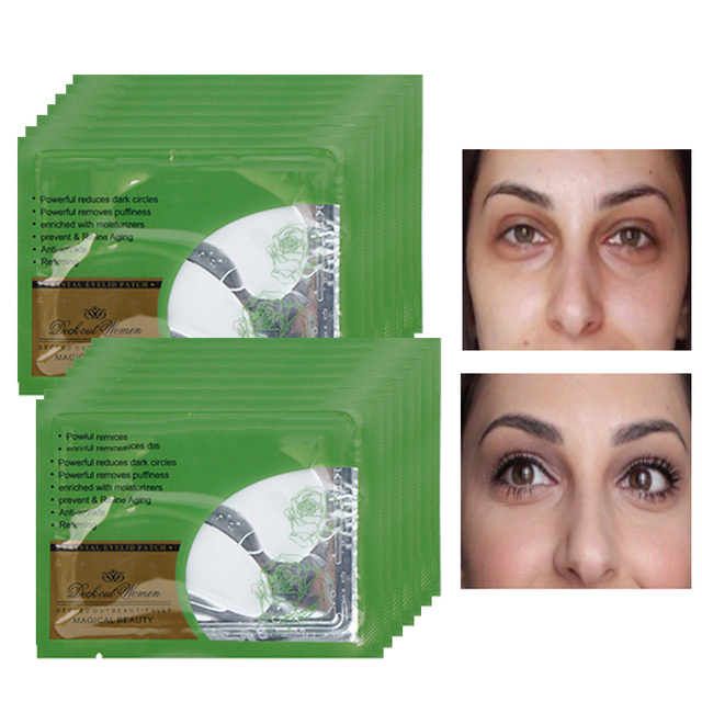 10Pack Collagen Crystal Eye Mask Eyelid Gel Patches Dark Circles Pad Moisture Anti-Wrinkle Protein Eye Patch Mask For Eye Care Skin Care