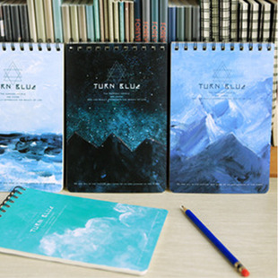 !4 color 2015 Landscape Series Journal Notebook Diary Planner ,loose-leaf notebook blank book - Dream start store
