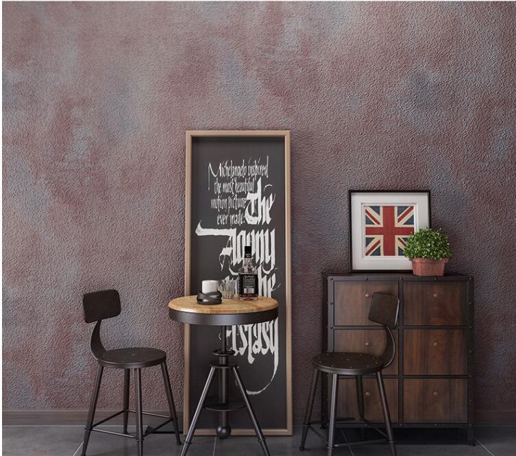 Beibehang papel de parede retro liso cinza