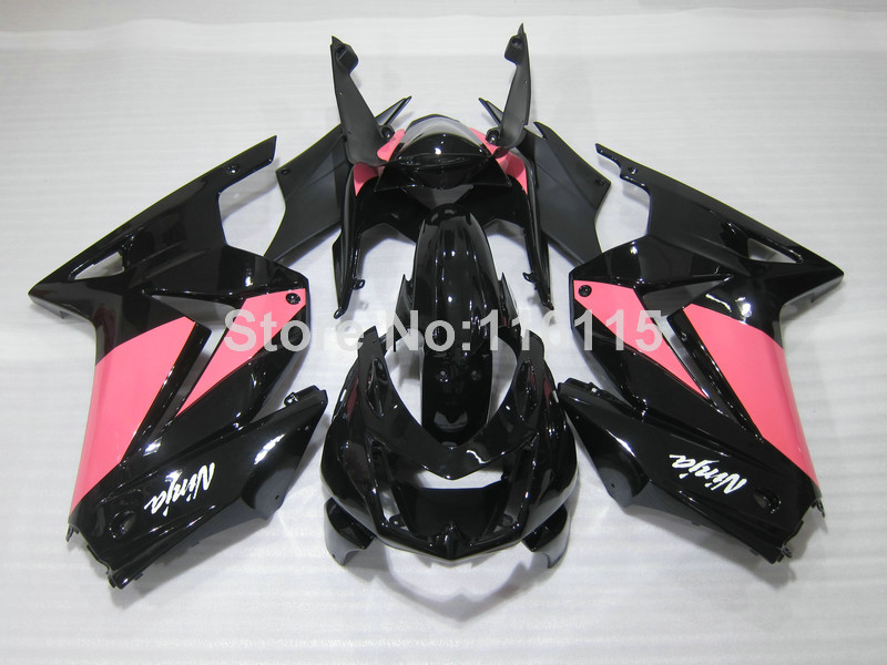 Hot Fairings Set For Kawasaki Ninja 250r 2008 2014 Pink Black