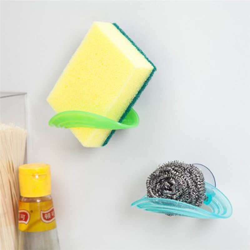 Image 5 - Kitchen Storage Rack Towel Soap Dish Holder Kitchen Bathroom Sink Dish Sponge Storage shelf Holder Rack Robe Hooks Sucker-in Racks & Holders from Home & Garden