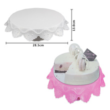 (2pcs/lot)2017 Free Shipping New FDA High Quality Cake Decorating Turntable(11.2''x5.1'' )Stand for Wedding Decoration extenal reading manual lensmeter ys2 stand type top quality fda certificated lensometer ys2