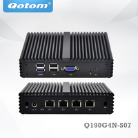 VGA Mini PC With 4 LAN Port Apply To Firewall And Router Bay Trail J1900 Low