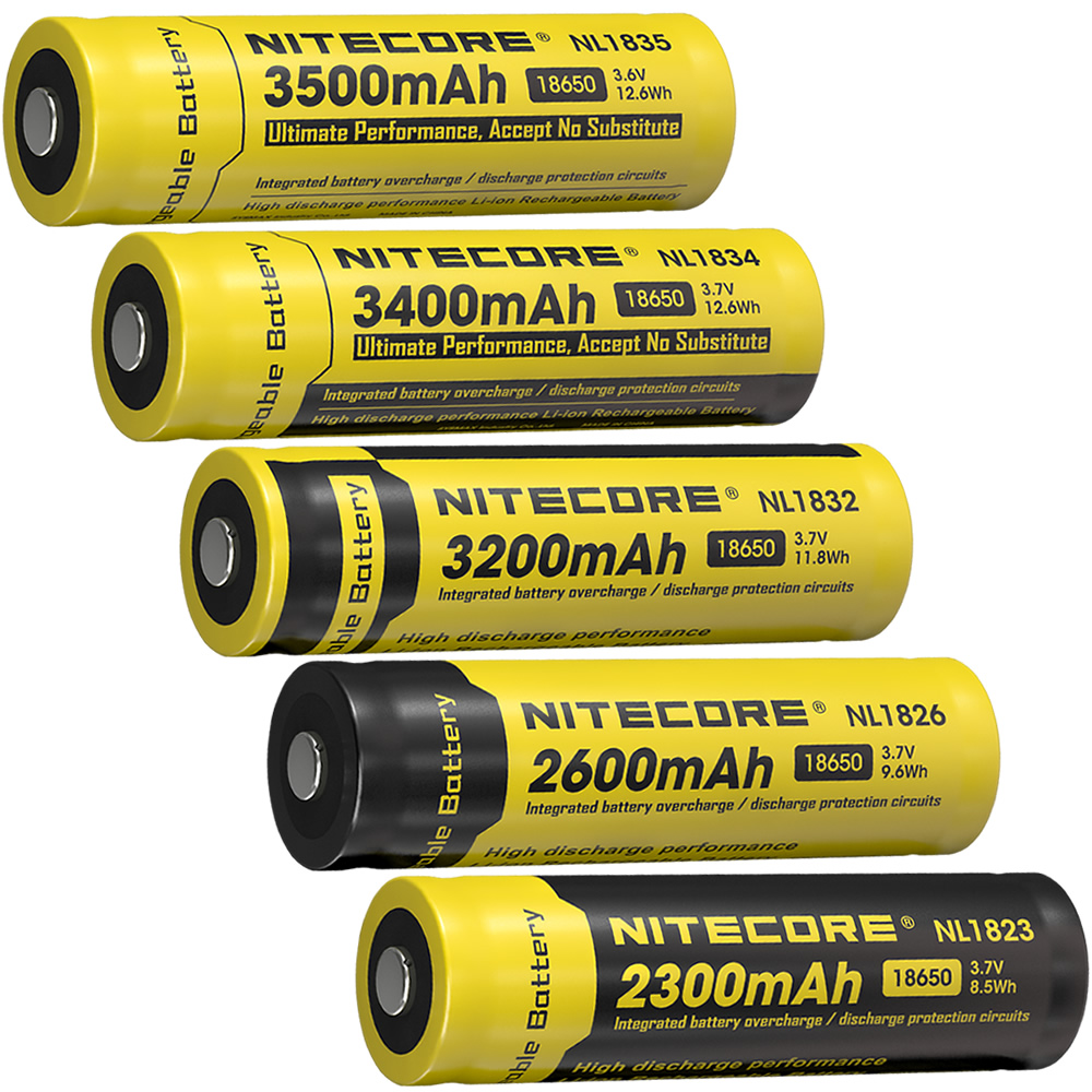 100% Original NITECORE NL1823/NL1826/NL1832/NL1834/NL1835 3.7V Li ion Protected Battery Button Top for 18650 Type Flashlights|Portable Lighting Accessories| |  - title=
