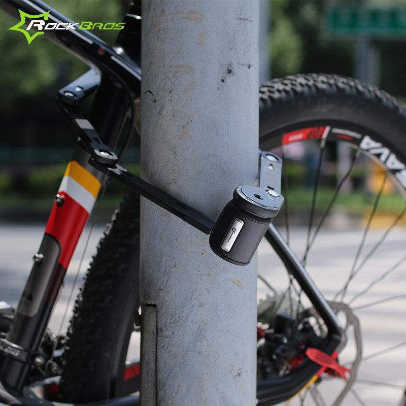 ФОТО Rockbros Bicycle Lock Steel Alloy MTB Road Bike Lock Chain Cable Bicycle Alarm Lock Anti-theft High Security Candado Bicicleta