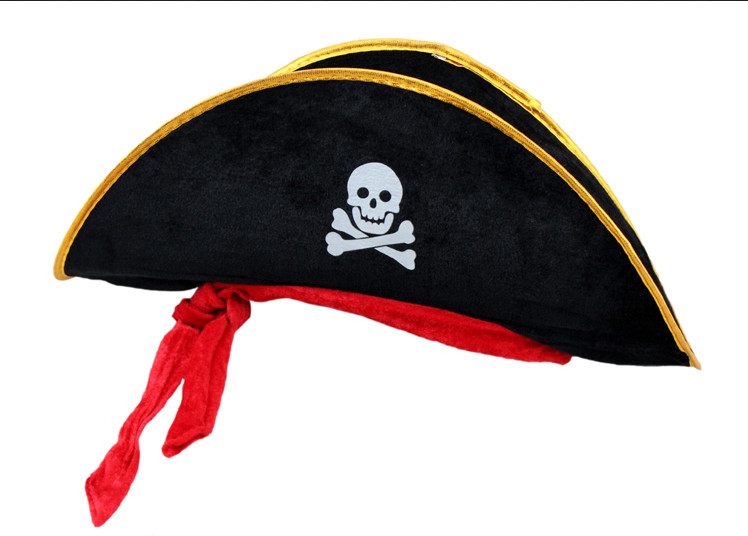 Pirate Adult Costume Hat Black