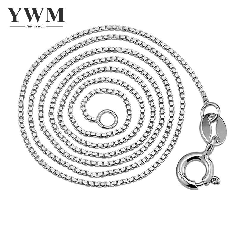 YWM 925 Sterling ezüst Doboz lánc nyaklánc Koreai Divat Ékszer - Finom ékszerek