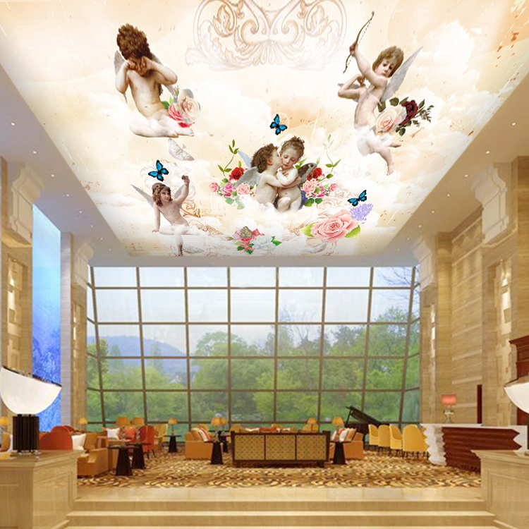 Free shipping european 3d baby clothing store mural for Baby mural wallpaper