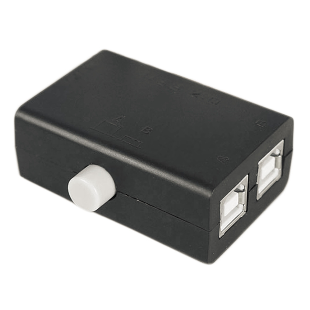 Hot High Quality New USB Sharing Share Switch Box Hub 2 Ports PC Computer Scanner Printer Manual Hot Promotion Wholesale
