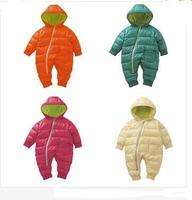 2017 New 0 2 Year Winter Baby Boy Rompers Cotton Padded One Piece Baby Girl Clothes