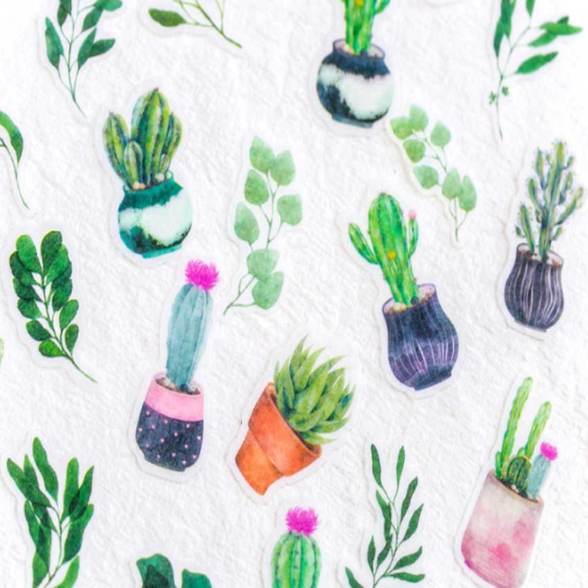 30 unids/pack pegatinas adhesivas de plantas kawaii papelería Linda diy scrapbooking deco pegatinas para diario teléfono papelería