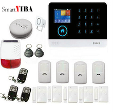 SmartYIBA GSM Home Alarm System Residential Alarm App Remote Smart House Wifi Home Security Detector with Outdoor Solar Siren 2G