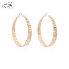 Badu Silver Hoop Earring Big Round Geometric Metal Earrings for Women Punk Vintage American Style Exaggerated Jewelry Wholesale майка классическая printio тыква