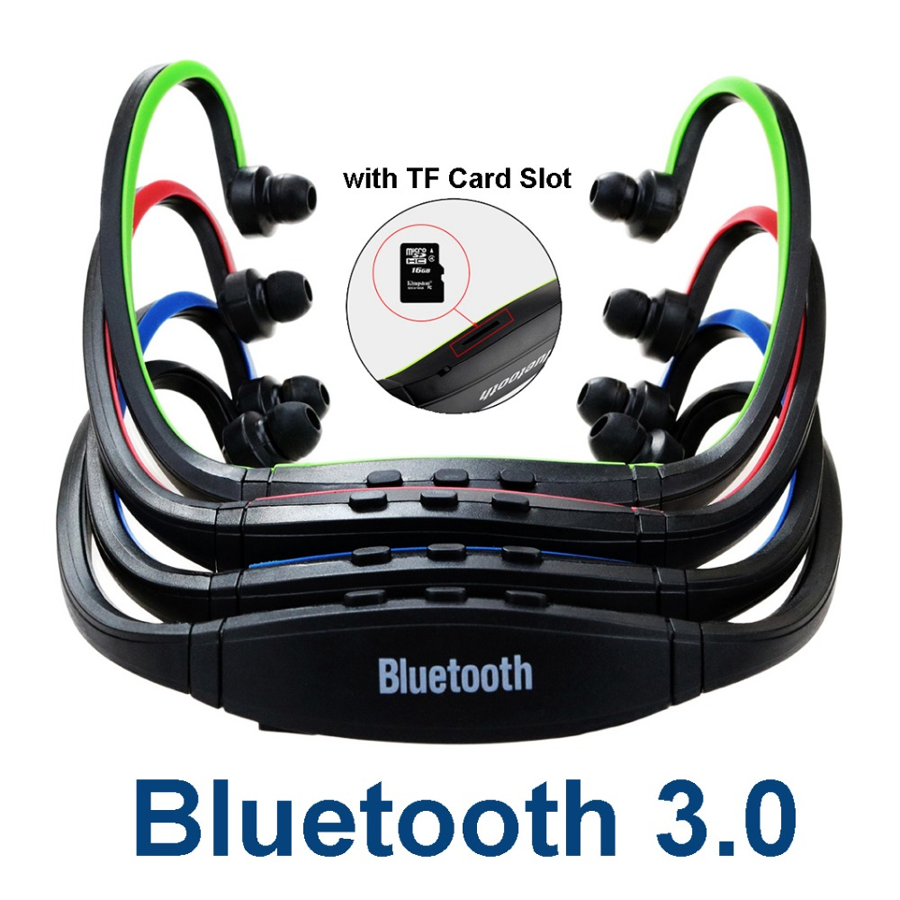 S9 Plus Sport Wireless Bluetooth 3.0 Earphone Headphones with TF Card Slot Auriculares Microphone for iPhone Huawei XiaoMi Phone wireless bluetooth earphone headphones s9 sport earpiece headset with tf card slot 8g auriculares with micro for iphone android