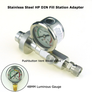 Image 5 - New Paintball Air Gun Airsoft PCP Stainless Steel HPA DIN G5/8 Scuba Fill Station Charging Adapter With 350Bar/5000Psi Gague