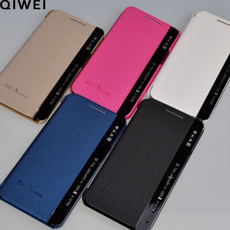 Para LG X Power funda vista ventana lateral Respuesta Rápida Sleep Flip Funda de cuero para LG XPower K210 K220DS k220y ls755 Fundas Coque