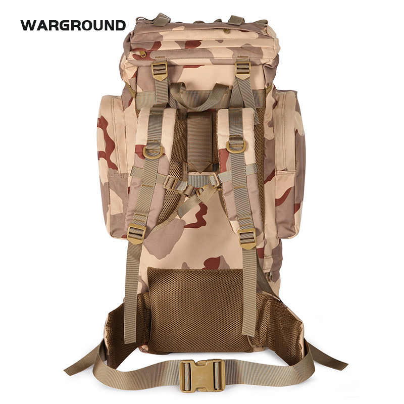 70L rain cover backpack mountaineering bag outdoor hiking tourists rucksack waterproof camouflage military backpack