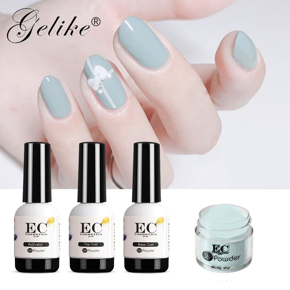 US $4 0 |Aliexpress com : Buy Gelike 10g Dipping Powder Kits Dipping Powder  French Nail Color Glitter Without Lamp Cure Nail Art Decorations from