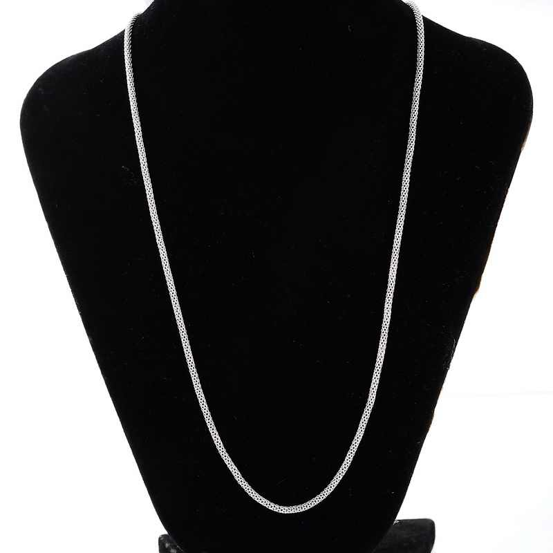 Fashion Silver Colors Stainless Steel 316L  Chain Necklace For Men Long Chain Necklaces Fine Jewelry Wholesale Punk Collares
