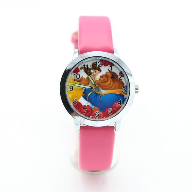 new fashion Beauty and the Beast Watches Children Kids Boys gift Watch Casual Qu