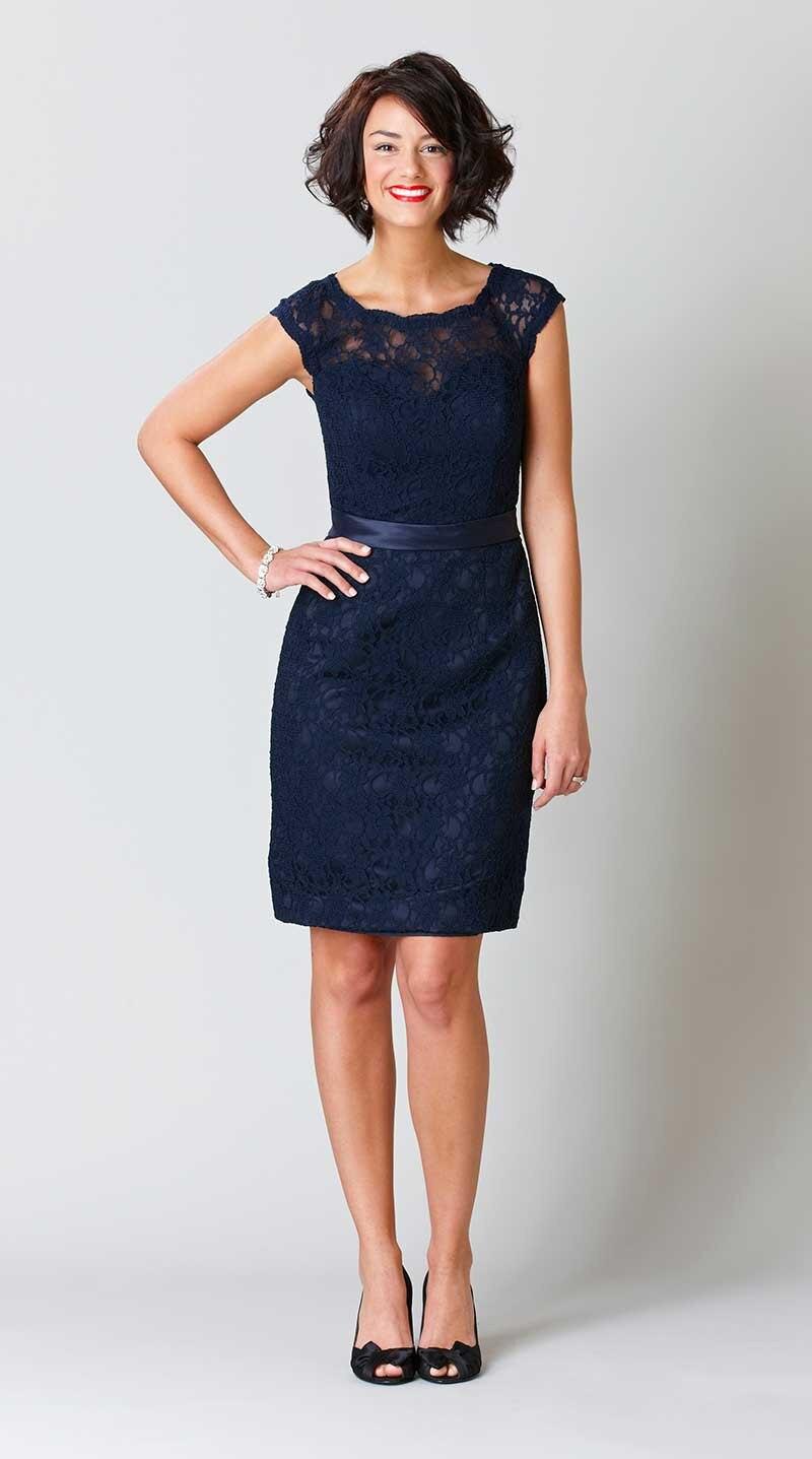 Navy Blue Lace Bridesmaid Dresses - Wedding Dress Ideas