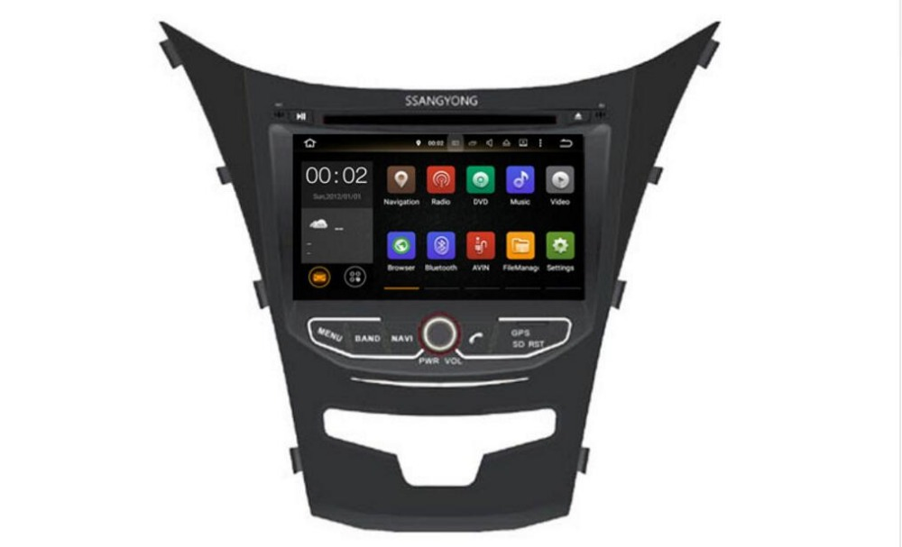 7 Android 8 1 IPS quad core car multimedia DVD player Radio GPS FOR SsangYong New