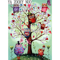 YA ZOOEY NUO Home Decor Diy Diamond Painting Cross Stitch Tree Owl Diamond Embroidery Crystal Round