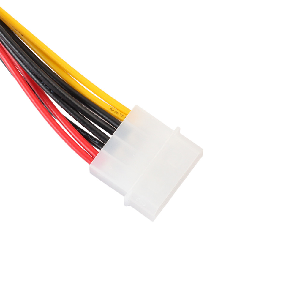 4Pin IDE Molex To 2 ATA SATA Power Supply Y Splitter Hard Drive Extension Cable (3)