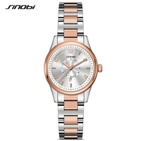 SINOBI Fashioh Women Business Wrist Watches Top Brand Date Luxury Gold Ladies Quartz Clock Female Bracelet