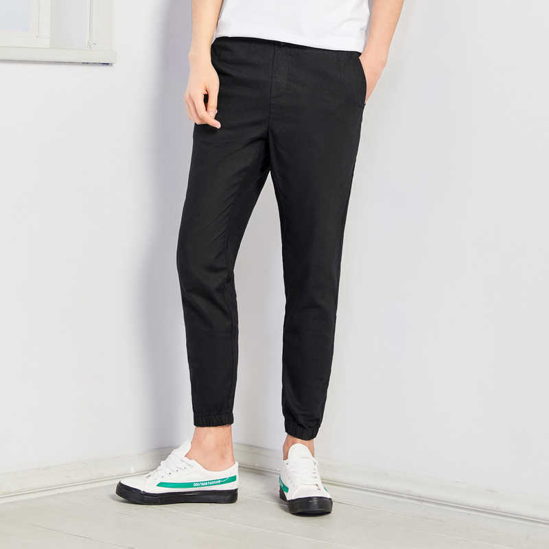 SEMIR 2019 ฤดูร้อนใหม่สบายๆกางเกงผู้ชายผ้าลินินผ้าลินิน Slim Fit กางเกงแฟชั่นชายเสื้อผ้าแบรนด์พลัสขนาด