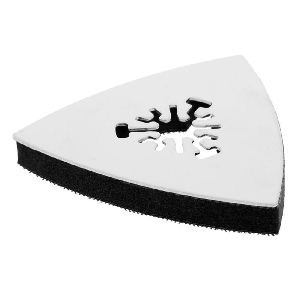 Image 4 - 1PC 80mm Stainless Steel Triangle Sand Tray Shaped Polishing Waste Sanding Pad Saw Blade-in Abrasive Tools from Tools