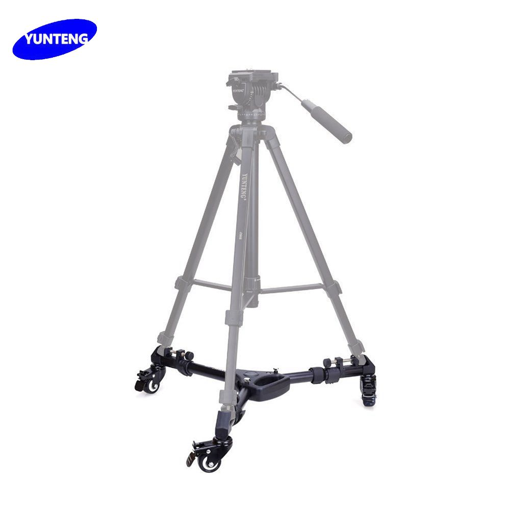 Yunteng YT-900 Heavy Duty Folding 3 Wheels dolly Pulley Folding Slider Tripod For Digital Camera Video Stand With Portable Bag cp50 professional photographic equipment heavy duty dolly camera tripod pulley bearing wheel studio light photographic lighting