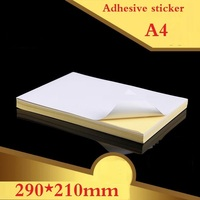 2 Style 290 210mm A4 Size Simple Blank White Kraft Adhesive Sticker DIY Decoration Label Package