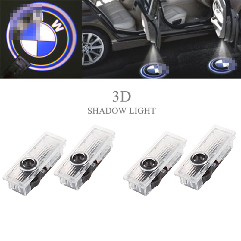 4Pcs For BMW LED Step Door Courtesy Logo Welcome Light Ghost Shadow Laser Projector
