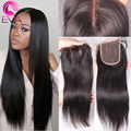 7A Brazilian Straight Closure,Lace Closure Straight Bleached Knots 100% Virgin Brazilian Human Hair Free/Middle/3 Part Closure