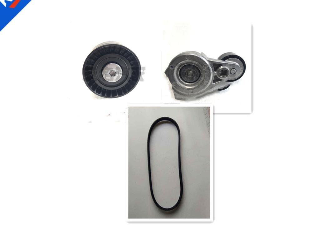 Kit de courroie de ventilateur d'alternateur poulie tendeur de générateur pour chinois SAIC MG5 1.5L ROEWE350 avec belt5PK1520