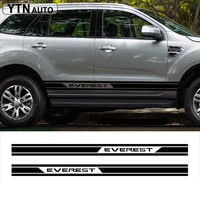 customize car accessories modified decal 2PC stripe racing side door graphic vinyl scratch protect sticker for ford everest SUV