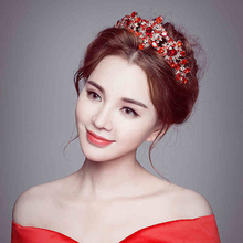 Women Hair Accessories Crystal Crown Wedding Party Vintage Handmade Floral Girls diamond Headband Bridal Headdress