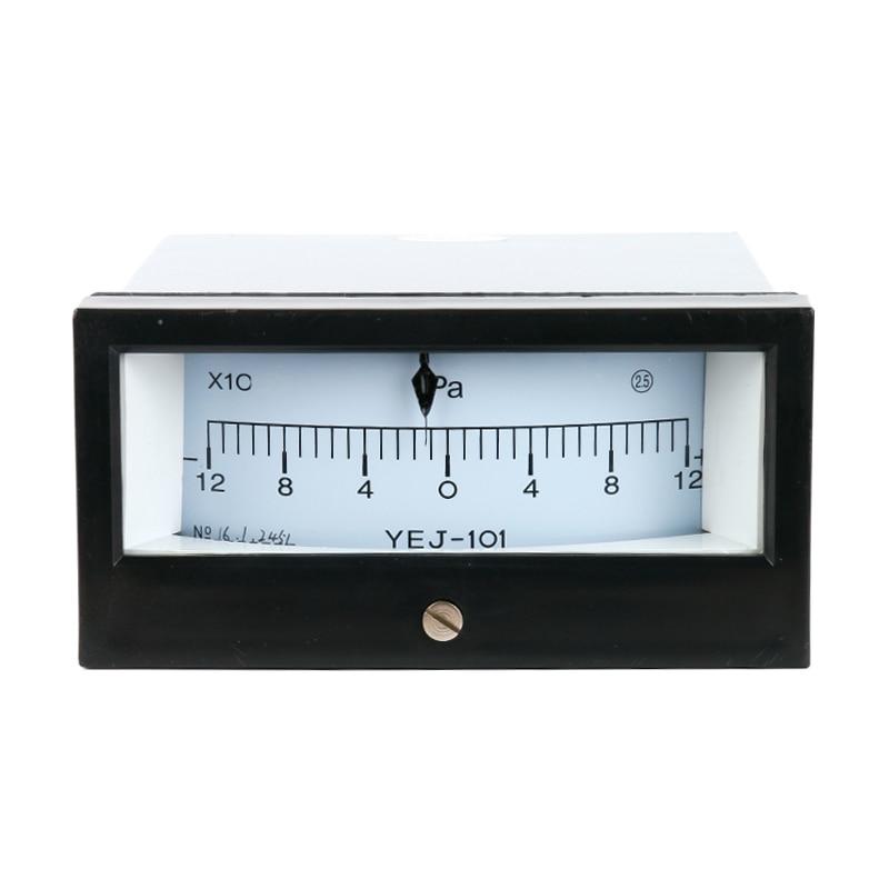 New Arrial YEJ-101 -120~120PA Square Diaphragm Pressure Gauge Positive and Negative 120Pa Film Box Pressure Gauge