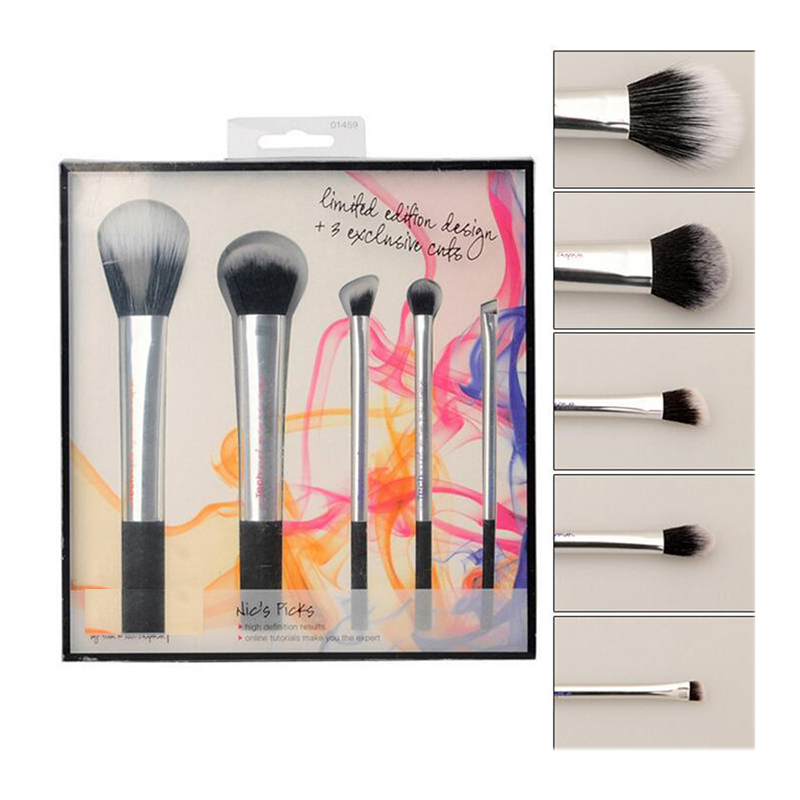 VANDER Pro 5Pcs Makeup Brushes Set Powder Foundation Eyeshadow Make Up Brushes Cosmetics brushes with gift box pincel maquiagem pro 15pcs tz makeup brushes set powder foundation blush eyeshadow eyebrow face brush pincel maquiagem cosmetics kits with bag