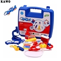 KAWO 14pcs/Set Doctor Series Pretend Play Set Children Play House Toys Medical Kits Classic Toys Simulation Medicine For Girl