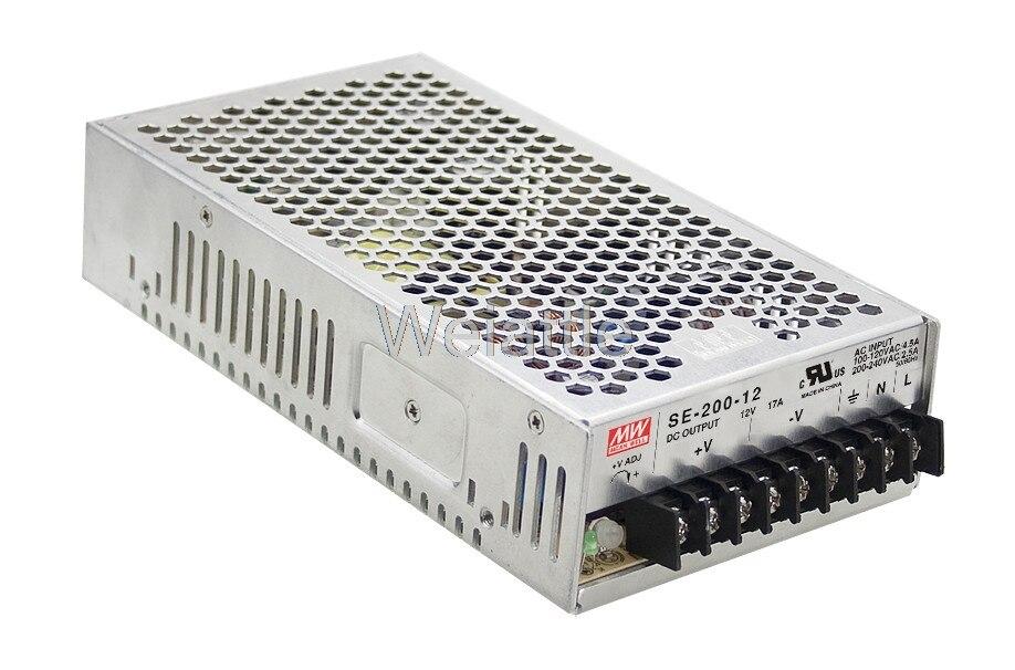 Moyenne bien original SE-200-36 36 V 5.9A meanwell SE-200 36 V 212.4 W unique sortie alimentation à découpage