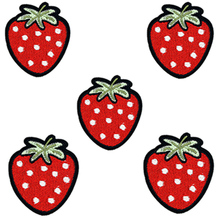 DIY Fruit strawberries Patch Iron Embroidered Applique on Patches Sewing Accessories Badge Stickers Clothes Bag