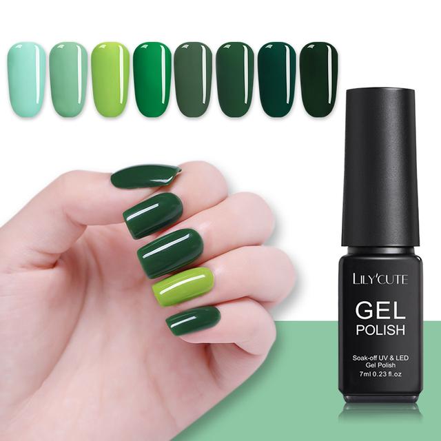 LILYCUTE Green Series Nail UV Gel