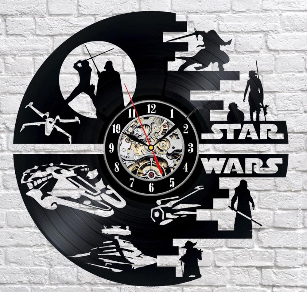 Творческие часы CD Виниловая пластинка настенные часы Домашний Декор 3D висит Часы обои Saat Reloj де сравнению