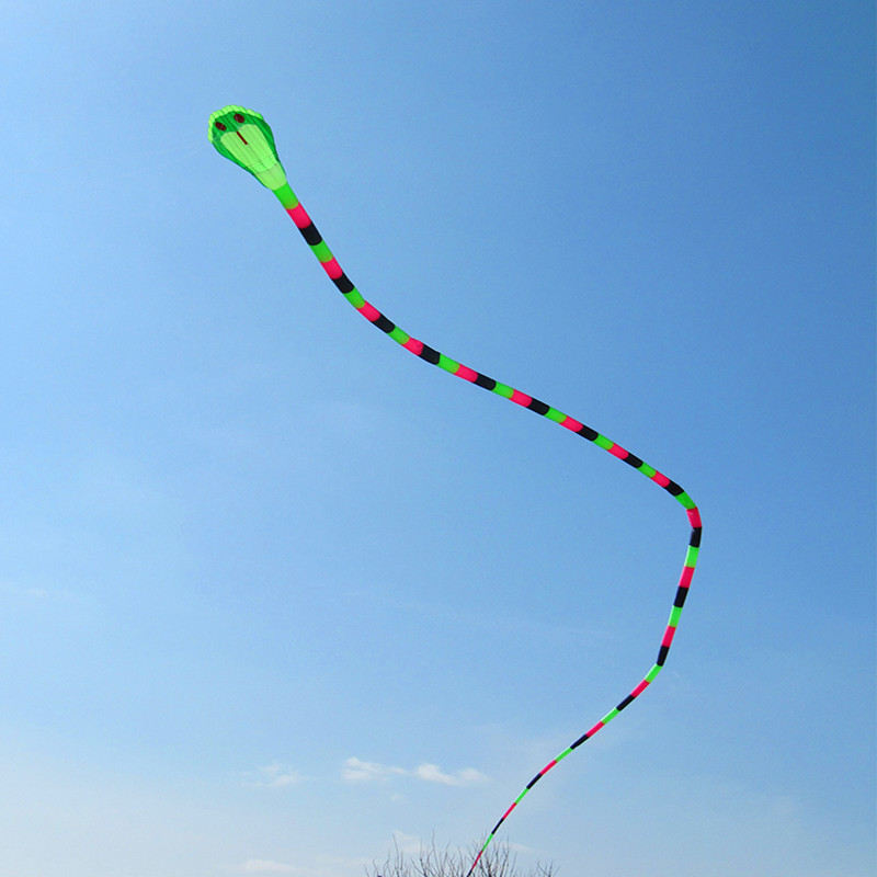 free shipping high quality 40m dual line soft kite snake kite weifang with kite reel ripstop nylon fabric power kite flying toys 2 5m huge dual line control soft frameless stunt parafoil flying kite plaid cloth made with 2 line board and 2 x 40m line